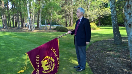Tony Brannigan on Standard Bearer duties.