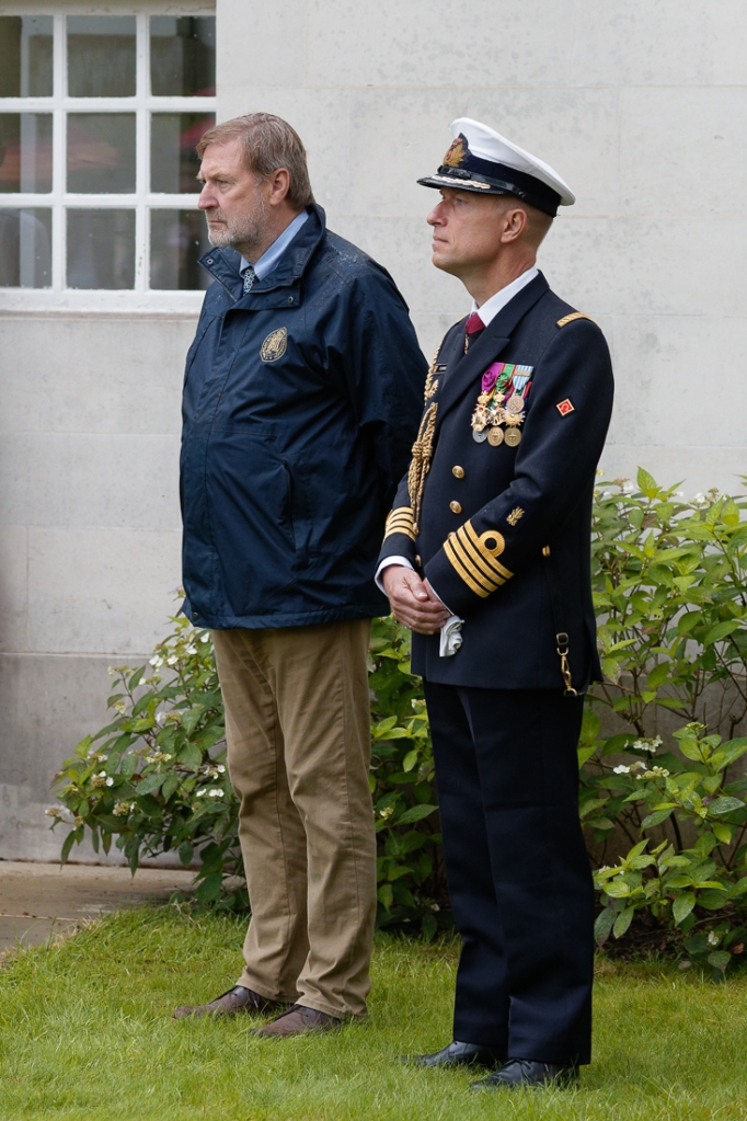 Angelo Munsel, ABMC and Capt. Flamant, Belgian Defence Attaché