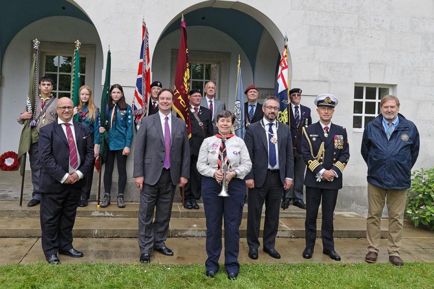 Kevin Davis, Jonathan Lord MP, Ruth Moore, Cllr Liam Lyons, Capt. Flamant, Angelo Munsel