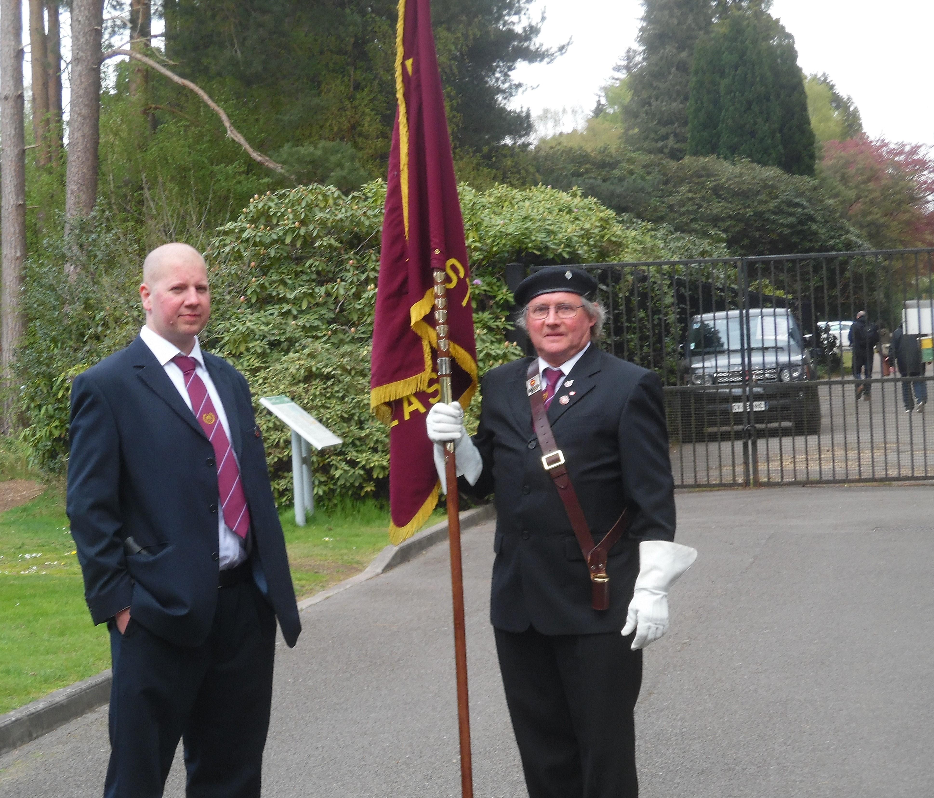 Stephen Wood and Standard Bearer Alan Lopez